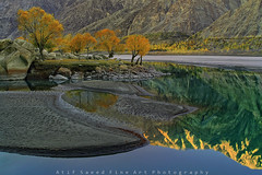 Winter is Coming (M Atif Saeed) Tags: blue trees pakistan sunset mountain lake mountains color reflection nature water colors sunrise landscape areas northern northernareas gilgit skardu atifsaeed gettyimagespakistanq1
