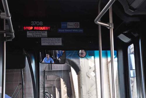 Q60 bus on Queensborough Bridge.