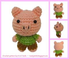 Tier Freunde: Ferkel (haekelanleitungen) Tags: amigurumi schwein tier ferkel häkeln häkelanleitung