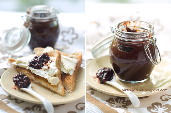 Confiture from an eggplant and chocolate