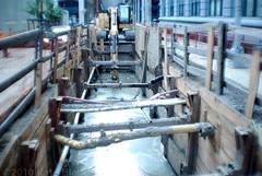 DSC_0392- (thekateblack) Tags: nyc newyorkcity ny newyork water brooklyn canal construction mud pipes dumbo caterpillar waterst muck beams bower kateblack