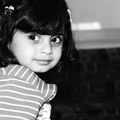 If angels live in heaven why i`m here ? (Dalal Al-O ( KWT )) Tags: portrait bw white black childhood kids angel portraits canon children eos unique angels childrens 500d dalal     taiba               500