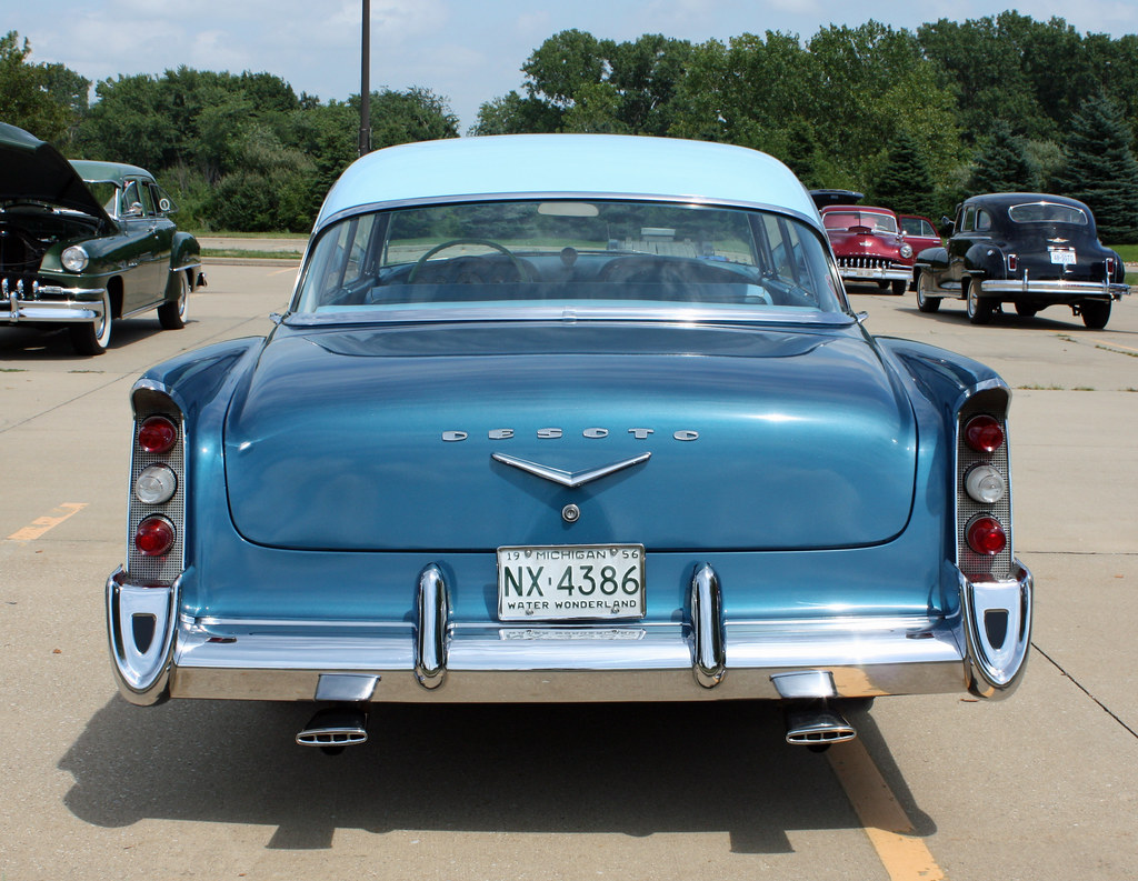 1956 desoto firedome seville 4 door hardtop 1 of 10 - 1956 Desoto Firedome Seville 4 Door Hardtop 10 Of 10 Myoldpostcards