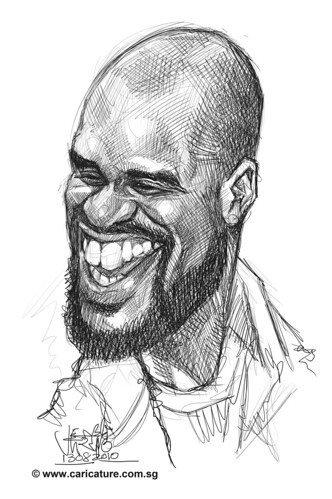 Schoolism Assignment 2 - sketch study of Shaquille O'neil - 1