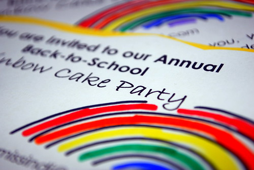 Rainbow Cake Party Invite