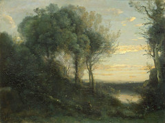 Camille Corot: Evening (1855-65) (petrus.agricola) Tags: st museum evening state petersburg hermitage camille corot