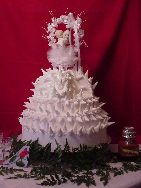 Pointy Wedding Cake