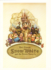 Disney Snow White Christmas Postcard (crayolamom) Tags: christmas vintage postcard disney reprint