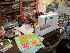 the sewing table this week...