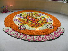 735. Onam-Welcome to Maveli (profmpc) Tags: india kerala onam flowercarpet pookkalam