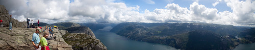 Panoramic view from the Preikestolen