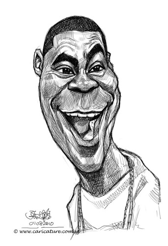 digital sketch studies of Tracy Morgan - 6