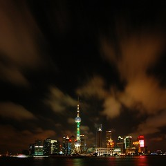 Shanghai - Amazing Night Skies over Pudong (cnmark) Tags: world china city light sky tower skyline night clouds reflections river geotagged hotel noche moving amazing cityscape shanghai nacht famous jin scenic center shangrila aurora convention mao noite pearl   oriental orient pudong grattacielo financial nuit  notte nachtaufnahme huangpu wolkenkratzer   lujiazui rascacielo gratteciel swfc   arranhacu  allrightsreserved    pearloftheorienttower tripleniceshot dblringexcellence geo:lon=121487224 geo:lat=31244250