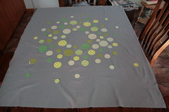New quilt idea (ric rac) Tags: grey quilt reverseapplique circlequilt
