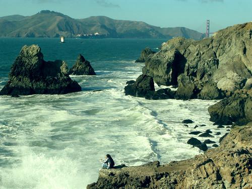 Le Golden Gate au loin et le plus bel endroit pour faire un picnic