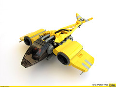 GHL RP19.84 VTOL (Biczzz) Tags: yellow lego space fantasy spaceship vtol ghl 0937 biczzz comunidade0937 spacecarft