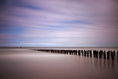 Groynes-1 (DolliaSH) Tags: longexposure sea sky seascape holland color beach colors clouds strand canon photography photo topf50 europe foto photos nederland thenetherlands noordzee playa zeeland filter le northsea topf100 frontpage plage spiaggia groynes ranta zuidholland 1755 domburg zeewering 50d explored visitholland canonefs1755mmf28isusm nd110 canoneos50d dollia dollias sheombar plyazh dolliash bw10stopsolidndfilter