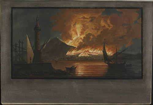 Plate 6, eruption on Mt. Vesuvius 1767 October 20