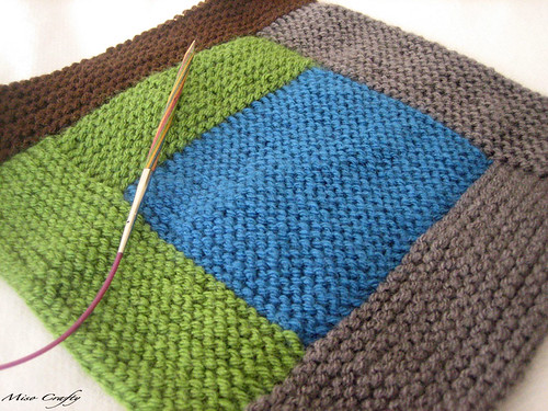 Miso Crafty Knits Wip Knitted Log Cabin Blanket