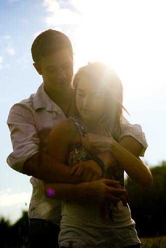 フリー写真素材, 人物, カップル・恋人・夫婦, 日光・太陽光線,