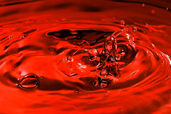 Blood Splash (Nas t) Tags: red macro water drops blood nikon sb600 tamron 90mm spalsh