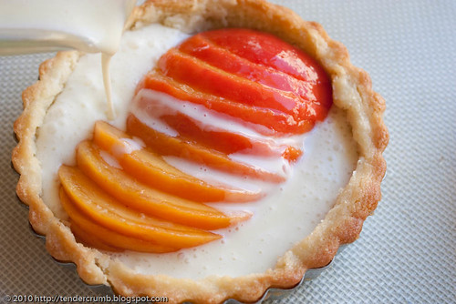 crunchy and custardy peach tart-6