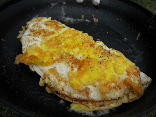 Crispy Cheese Omelet