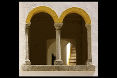vora - detail (Toni F.) Tags: trip holiday portugal window yellow colours pillars archs evora tonif