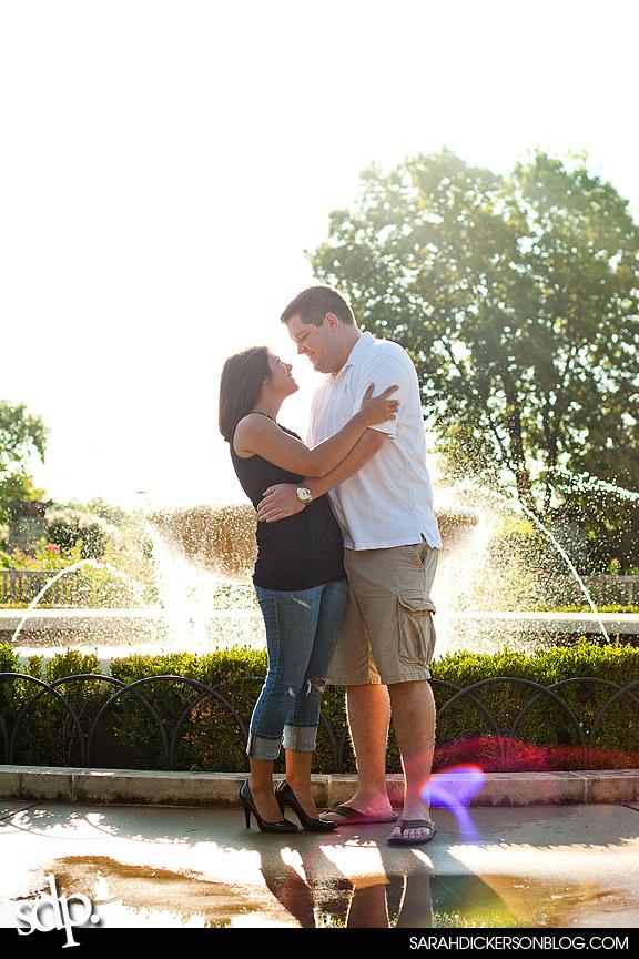 Loose Park, Kansas City Missouri engagement photos