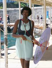 Josephine Baker  (2010)  Capri.... (Paolo Pizzimenti) Tags: capri campania paolo femme olympus yeux hasselblad beaut parasol italie visage josephinebaker