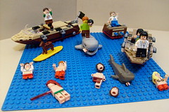 Shark attack! (Tommyo3000) Tags: ocean sea white lake water swimming swim dead shark boat blood body parts great attack bull jackson jaws bite grover shaggy dying doo bit scooby percy decapitated beheaded