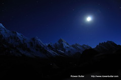 Sleeping in Mountains (rizwanbuttar) Tags: pakistan light moon mountain tower night shots concordia trango rizwan baltoro masherbrum buttar gaherbrum