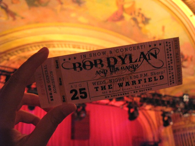 Bob Dylan & His Band concert @ The Warfield / San Francisco