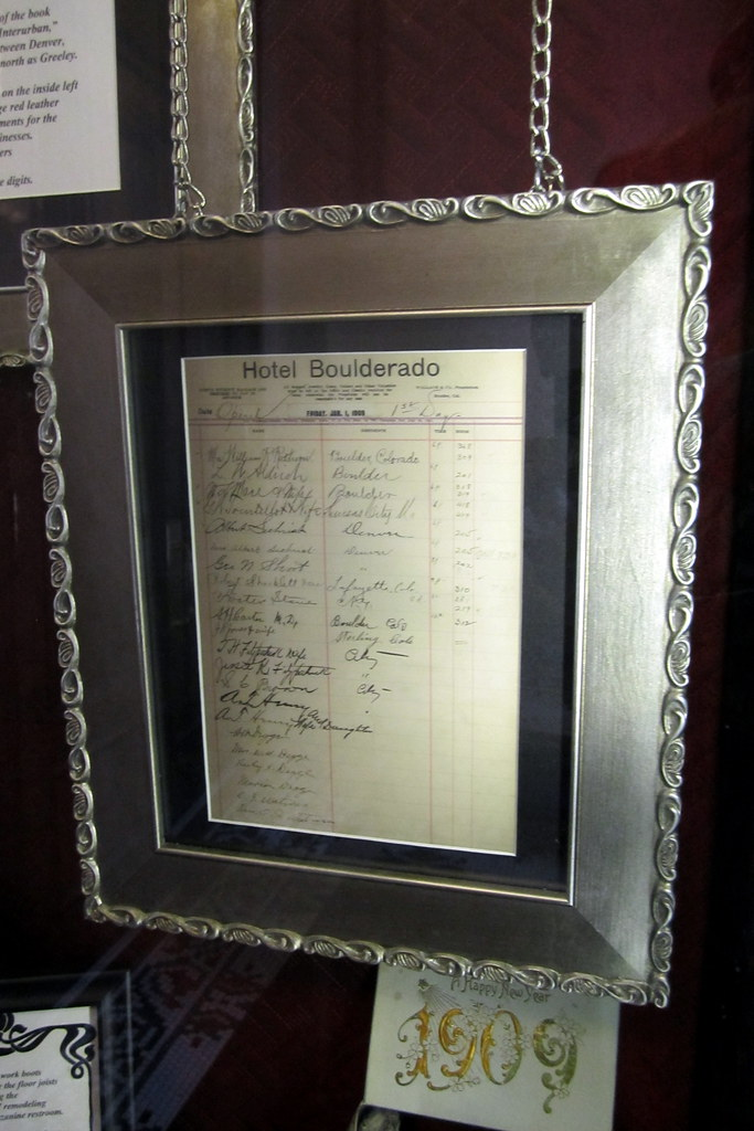 Colorado - Boulder: Hotel Boulderado Original Guest Registry