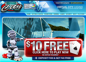 $25 + 10 FS No Deposit Bonus at The Virtual Casino
