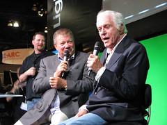 La 2010, Siggraph, William Shatner and Dick Van Dyke (kevman) Tags: trek star la 3d los angeles crane dick august william danny conference fi van dyke siggraph lightwave sci shatner 2010 newtek