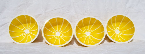 Vintage Golden Grapefruit Breakfast Bowls