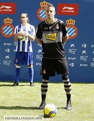 RCD Espanyol Li-Ning 2010/11 Home and Away Kits / Camisetas
