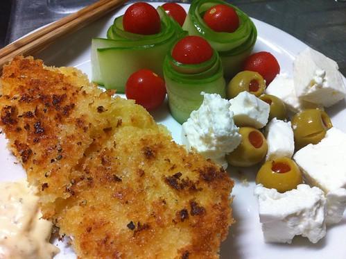 Breaded Fish & Salad
