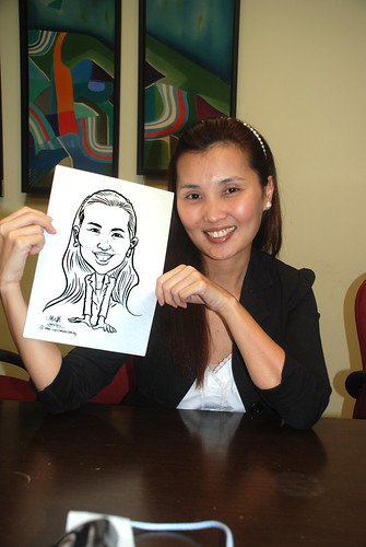 Caricature live sketching @ UOB Finance Division - 10