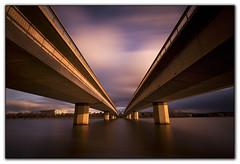 Commonwealth Bridge. (tassie303) Tags: lake reflection water canon australia canberra sigma1020 commonwealthbridge nd110 perpetualtravellers bwnd110