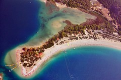 Oludeniz beach,Fethiye Turkey (berkun54) Tags: holiday sport turkey fly flying jump paragliding oludeniz fethiye adrenalin turkei mugla yamaparat