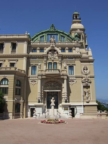 beautiful building of exclusive casino in Monaco