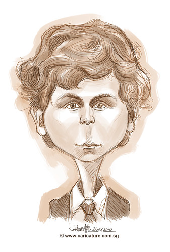 digital sketch of Michael Cera - 1