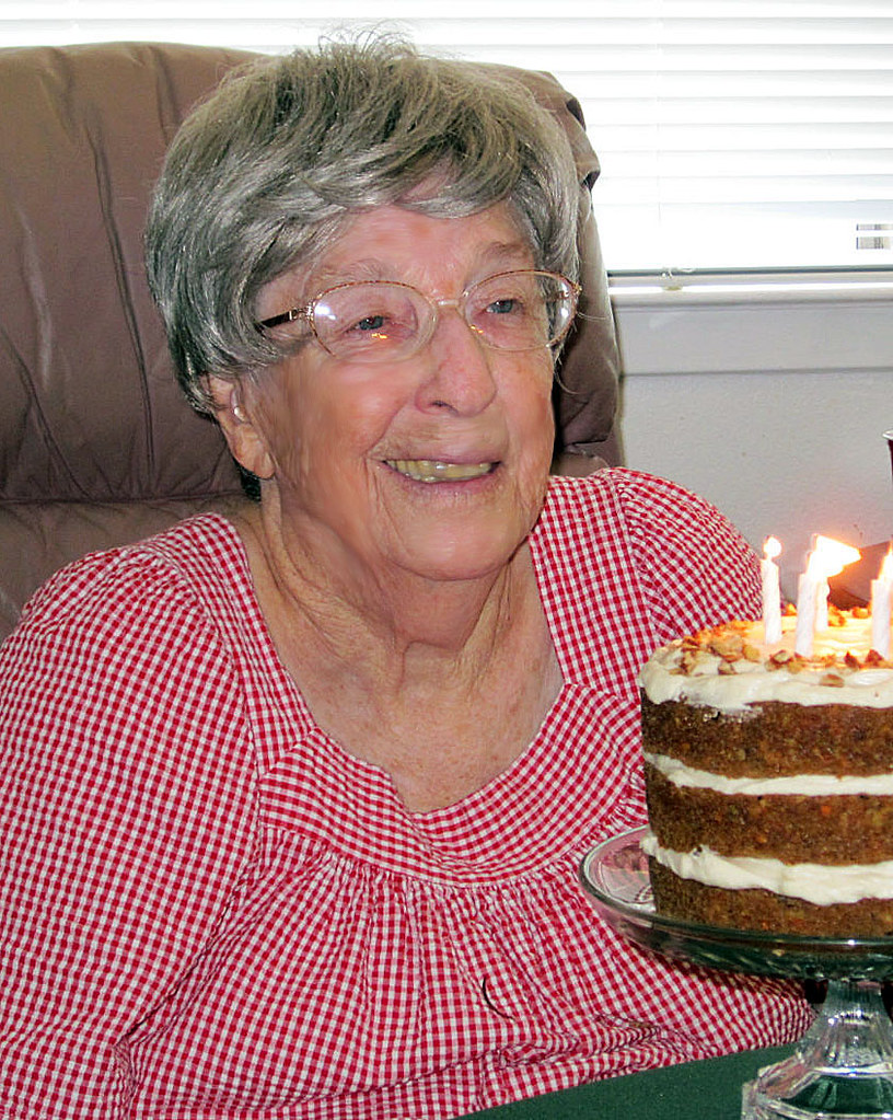 Mom 93rd bday w carrot cake