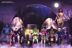 The Legion of Doom (Bleau Aquino) Tags: comics dc joker villains harleyquinn justiceleague giganta superfriends solomongrundy legionofdoom jla darkseid grodd sinestro braniac hallofdoom blackmanta bizaro bleauaquino lecluthor