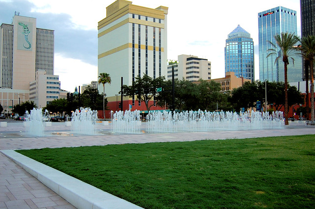 Curtis Hixon Waterfront Park in Downtown, Tampa