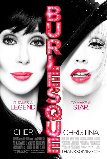 Cher&Christina Aguilera - Burlesque Movie Poster #2