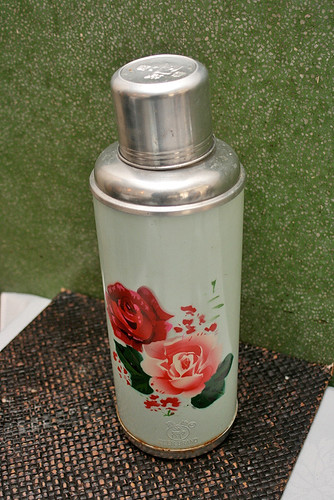 An old school thermos flask