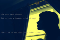 (Alva Keogh) Tags: portrait girl silhouette female self canon hope sad quote text profile perks theperksofbeingawallflower stephenchbosky